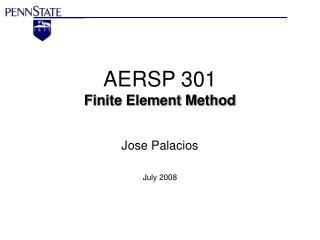 AERSP 301 Finite Element Method