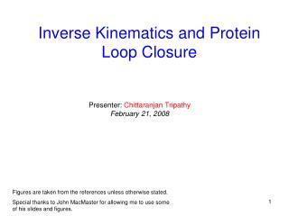 Inverse Kinematics and Protein Loop Closure