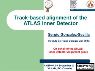 Track-based alignment of the  ATLAS Inner Detector