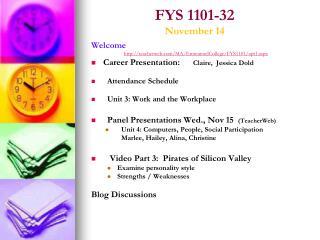 FYS 1101-32 November 14