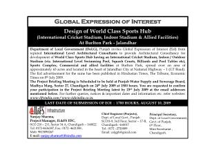 Global Expression of Interest