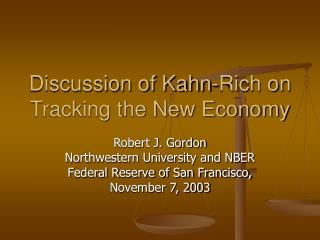 Discussion of Kahn-Rich on Tracking the New Economy