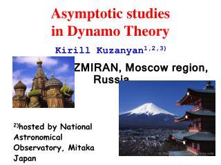Asymptotic studies  in Dynamo Theory