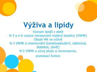 Výživa a lipidy