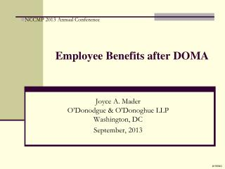 Employee Benefits after DOMA