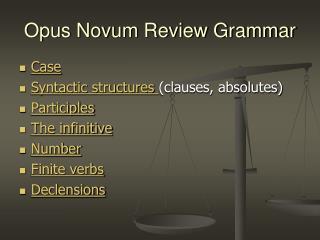 Opus Novum Review Grammar
