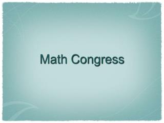 Math Congress