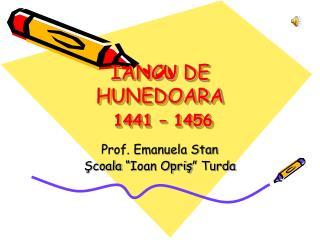 IANCU DE HUNEDOARA 1441 – 1456