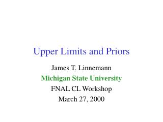 Upper Limits and Priors