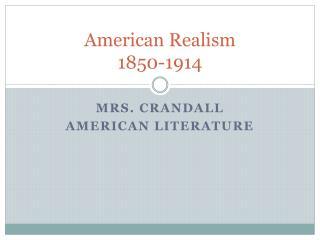 American Realism 1850-1914