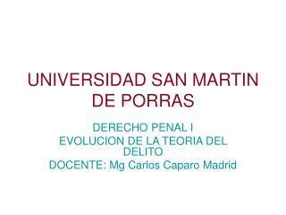 UNIVERSIDAD SAN MARTIN DE PORRAS