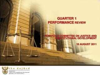QUARTER 1  PERFORMANCE  REVIEW