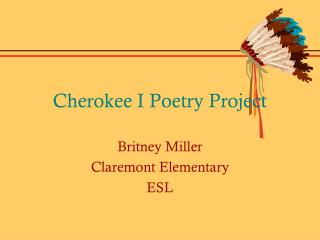 Cherokee I Poetry Project