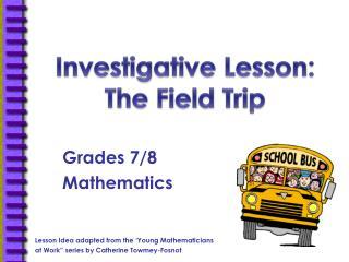 Grades 7/8 Mathematics