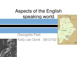 Aspects of the English speaking world
