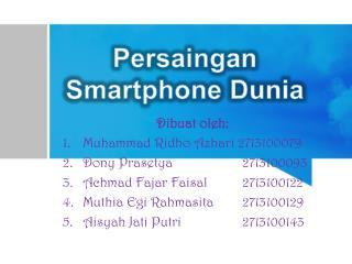 Dibuat oleh :  Muhammad  Ridho Azhari  2713100079 Dony Prasetya   2713100093