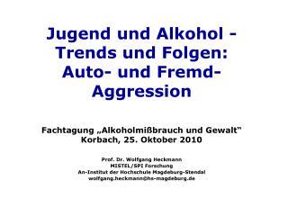 Prof. Dr. Wolfgang Heckmann  MISTEL/SPI Forschung An-Institut der Hochschule Magdeburg-Stendal