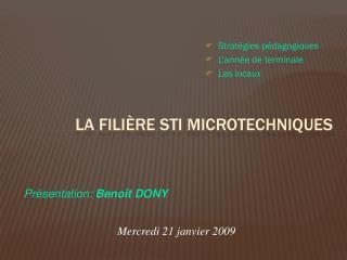 La fili�re STI Microtechniques