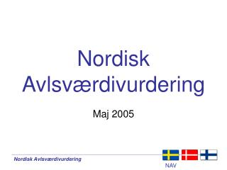 Nordisk Avlsv�rdivurdering