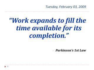 Tuesday, February 03, 2009