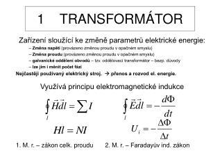 1    TRANSFORMÁTOR