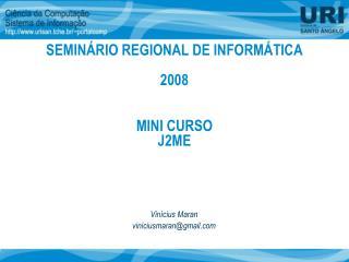 MINI CURSO J2ME