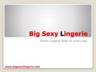 Online lingerie shop for every size