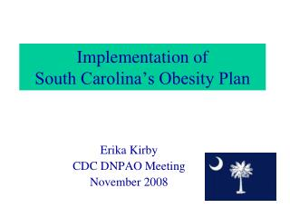 Implementation of  South Carolina's Obesity Plan