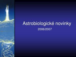 Astrobiologické novinky