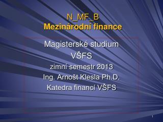 N_MF_B Mezinárodní finance