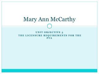 Mary Ann McCarthy