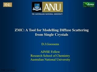ZMC: A Tool for Modelling Diffuse Scattering from Single Crystals
