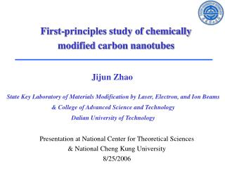 Presentation at National Center for Theoretical Sciences & National Cheng Kung University