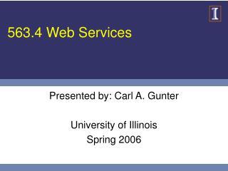563.4 Web Services