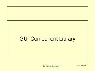 GUI Component Library