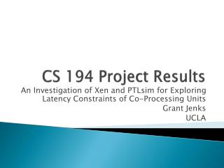 CS 194 Project Results