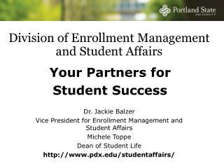 Division of Enrollment Management and Student Affairs