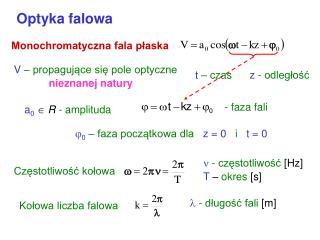 Optyka falowa