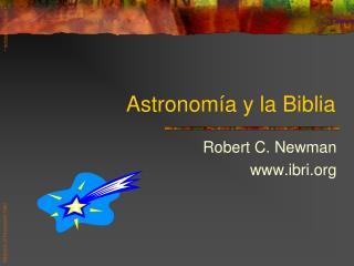 Astronomía y la Biblia