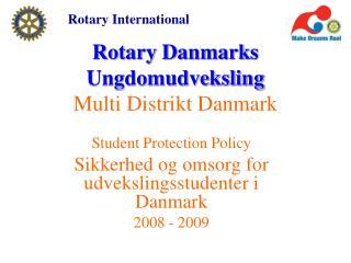 Rotary Danmarks Ungdomudveksling Multi Distrikt Danmark