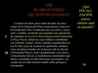 VIII EL GRAN VUELO (pp. 68-69 del  coursepack )