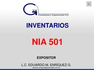 INVENTARIOS NIA 501