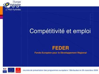 Compétitivité et emploi