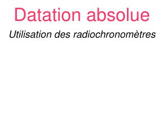 Datation absolue