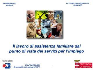 Il lavoro di assistenza familiare dal punto di vista dei servizi per l'impiego