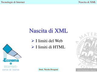 Nascita di XML