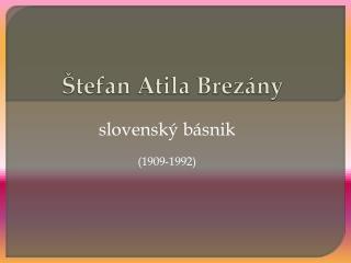 Štefan Atila  Brezány