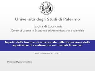 Universit� degli Studi di Palermo