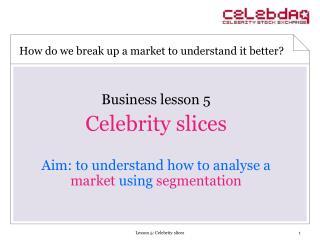 Business lesson 5 Celebrity slices