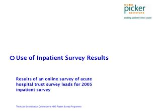 Use of Inpatient Survey Results